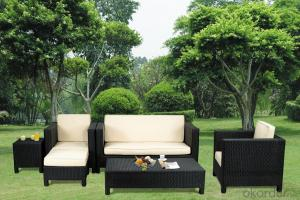 Outdoor Sofa Patio Table and Chair with Wicker Rattan