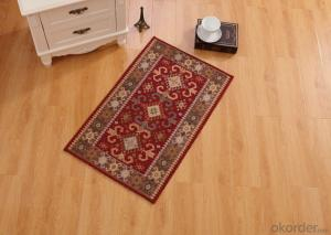 Red Color Chenille Polyester Jacquard  Indoor Carpets