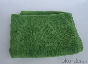 Microfiber cleaning towel with dark green