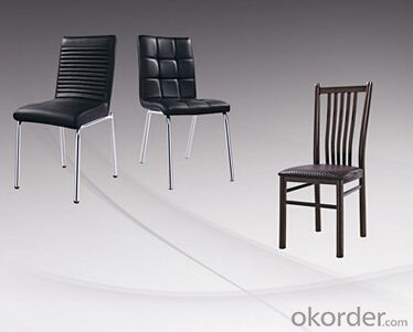 Leather Seat and Chromed Steel Dinning Chair