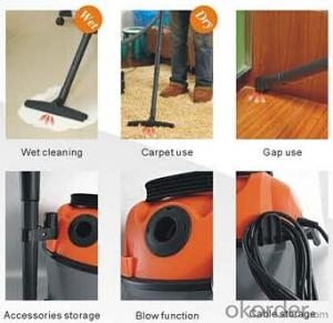 Wet and Dry Drum Vacuum Cleaner with Inlet HEPA Filter-10/18L