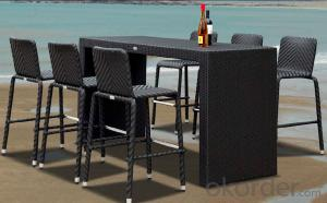 Outdoor Furniture Rattan Bear Bar Set  CMAX-MJT010