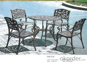 Metal Table  and Garden Rattan Dining Set Outdoor Chair Patio Furniture
