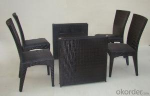 Patio Use Outdoor Rattan Garden Dining Set in Wicker