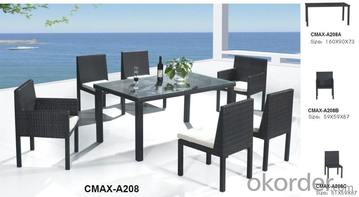 Garden Set Rattan with Arm and Armless Chair CMAX-A208