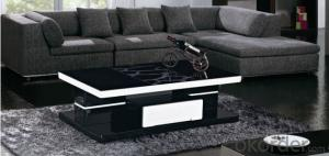 Glass and MDF Coffee Table for Living Room