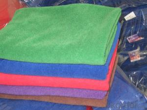 Microfiber cleaning towel with simple clean design