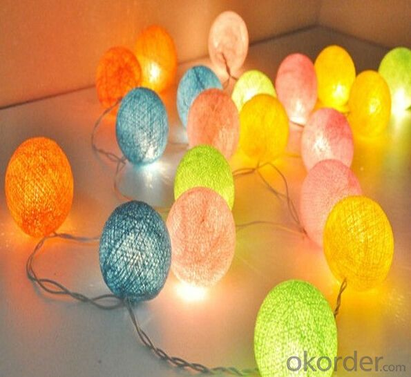 Christmas Decorative Cotton Ball String Light Led Holiday Lighting