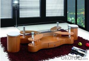 Fashion Model Wooden and Glass Coffee Table