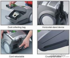Powerful Bagged Canister Vacuum Cleaner with LED Dust Full Indicator