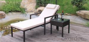 Danyalife Outdoor Simple Swimming Pool Leisure Rattan Sun Lounger
