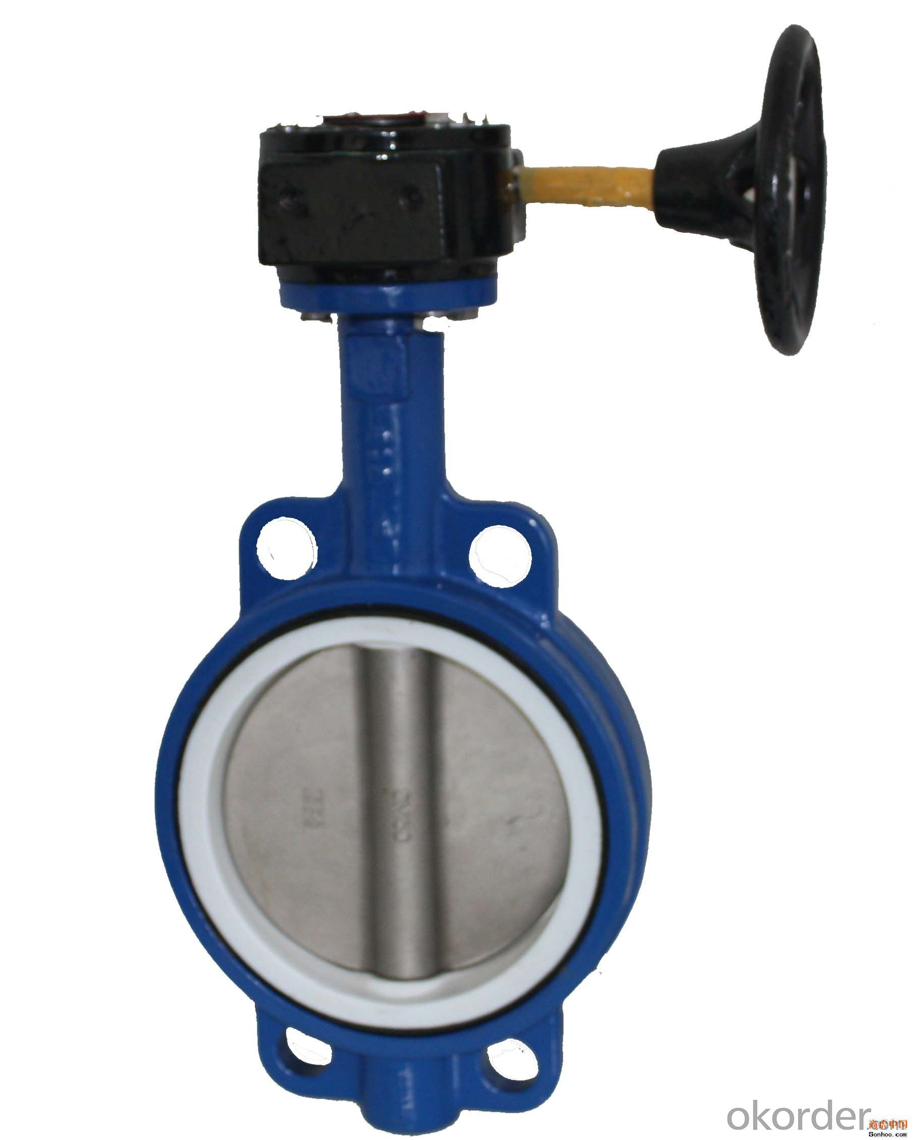 Ductile Iron wafer butterfly valves DN200