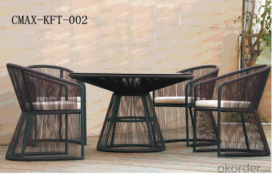Professional Outdoor Rattan Furniture with Competitive Price CMAX-KFT-002