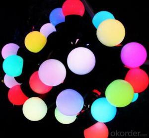 50 RGB LED Christmas Holiday Light LED Ball String Light With 8 Flashing Mode
