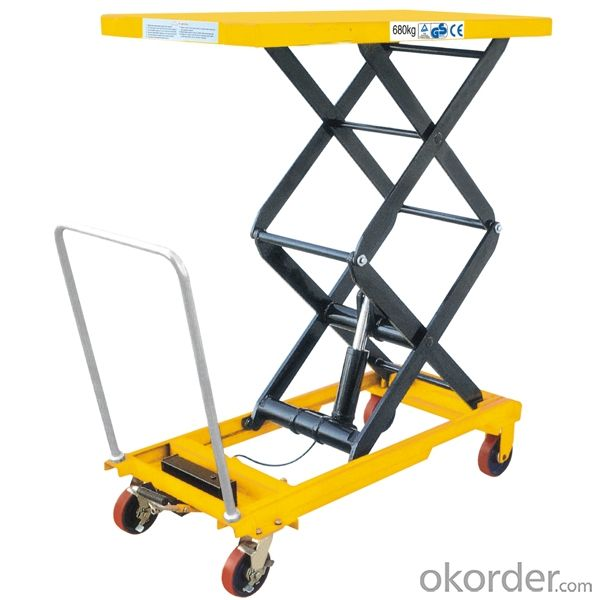 1500kg CE Hydraulic Scissor High Lift Truck with Quick Lift Pump