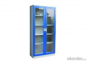 Metal Locker Office Furniture Steel Cabinet School Glass Locker Double Door