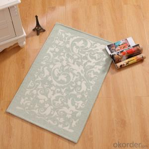 Washable Soft Machine Made  Chenille Polyester Jacquard Floor  Rugs