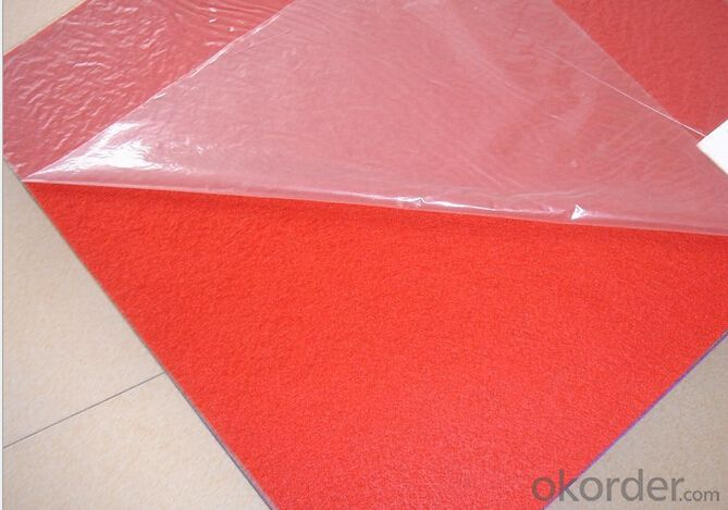 plain exhibition carpet with protective film