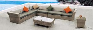 2015 Hot Sale Sectional PE Rattan Outdoor Sofa Sets