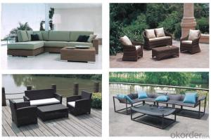 Aluminum Garden Wicker Brown Outdoor Sofa set best selling