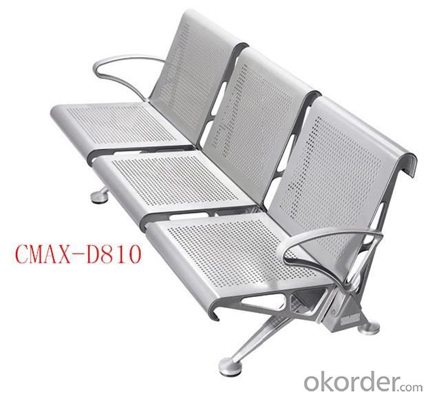 3- Seater Modern Stainless steel Waiting Chair design CMAX-D810