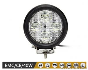 6 inch 40W auto lighting system led spot light