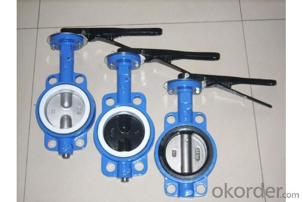 Ductile Iron wafer butterfly valves DN450