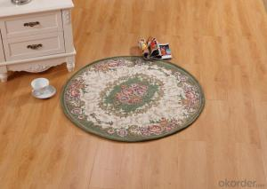 Hot Sale Round Chenille Polyester Jacquard Floor Carpets and Rugs