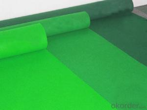 High quality antique green exhibition carpet rolls