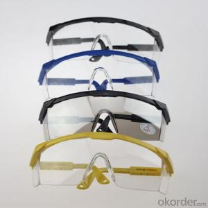 protection eyeglass EN 166 / ANSI PC lens,safety industrial glasses Wide Vision Multi Color