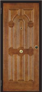 Steel Wooden Italian Armored Entry Door