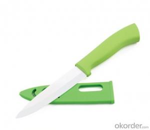 Art no. HT-TS1007  Ceramic knife set with acrylic stand