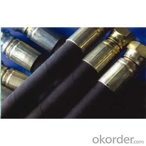 Wire Braided Hydraulic Hose High Pressure DN8