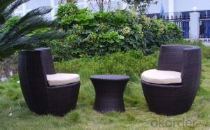 Aluminum PE Wicker Rattan Outdoor Garden Dining Table