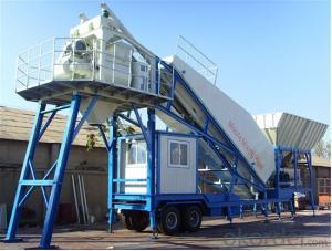 Mobile concrete mixing plant  Concrete Batching Plant   75 cubic meter