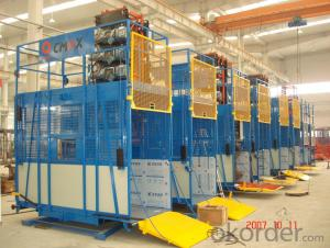 Building hoist SC150  ,Designed Cage Interior Improves Comfortableness