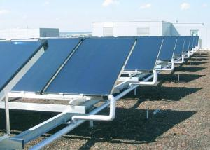 blue titanium flat panel solar thermal collector