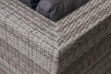 Conjunto de sofás de ratán PE para patio exterior con marco de aluminio