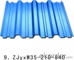 Colored corrugated steel roofing sheets for mobile house