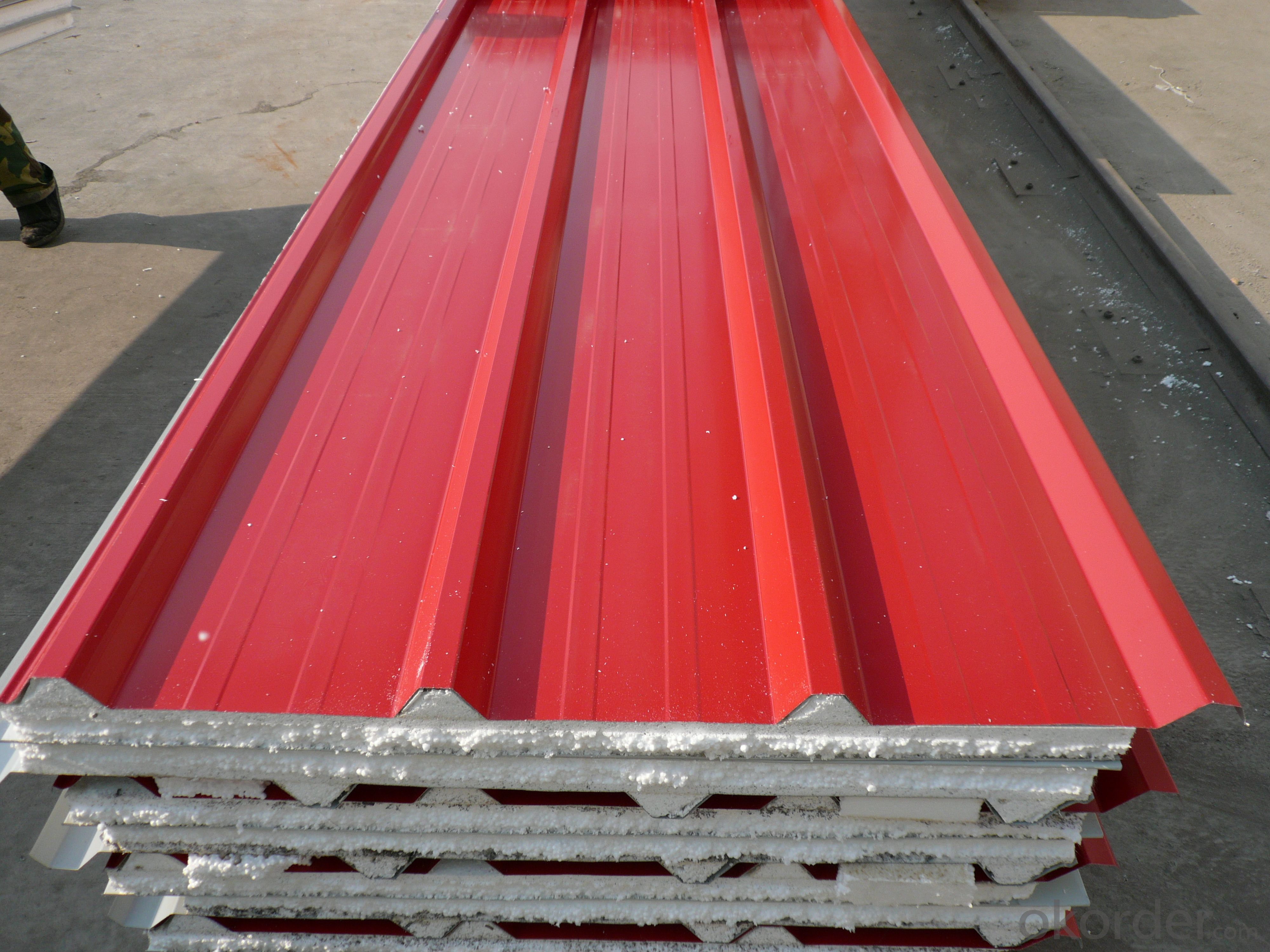 Polystyrene sandwich panel for roof hot sell from china
