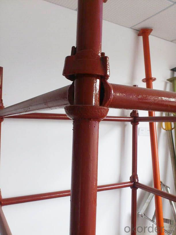 cuplock scaffolding system with safety sandard for construction