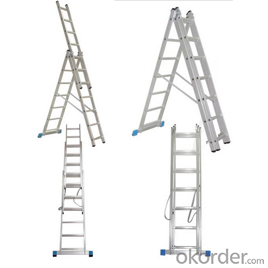 Household Multipurpose Extension Telescopic Ladder with CE/En 131