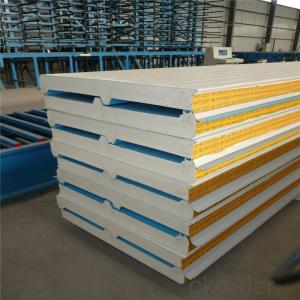 fireproof and heat-insulated Polyurethane sandwich panel for roof