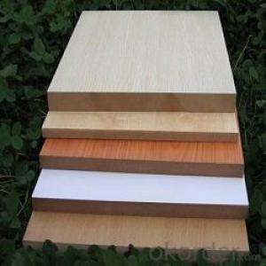 MELAMINE MDF/ BOTH SIDES OR ONE SIDE/ ALL COLOR/ E2 / CMAX / CHINA AND DUBAI / 4'X8'X18MM