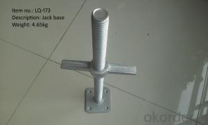 Adjustable base jack 400mm&600mm shoring square-head Jack
