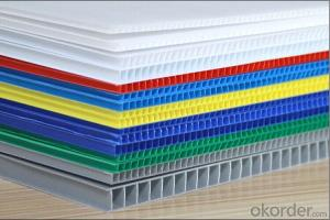 Polypropylene corrugated sheet wide used as package material