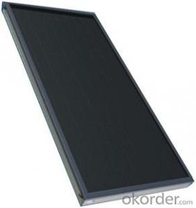 Flat plate solar thermal collectors with Black Chrome or Titanium