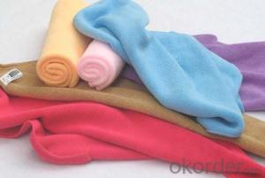 Microfiber cleaning towel with simple one color
