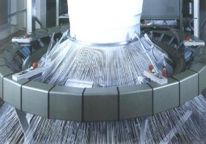 Circular Knitting Machine for Making Woven Geotextile