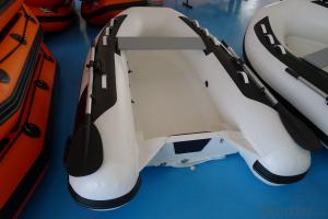 Inflatable RIB Boat for Fishing with Fiberglass Floor
